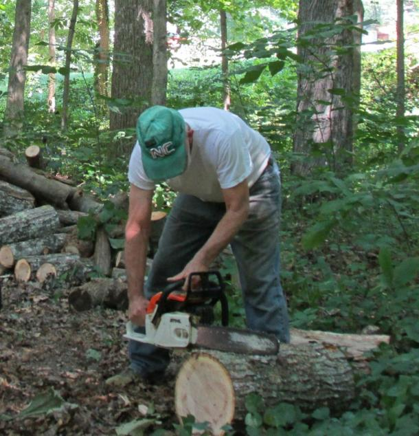 Lots of cutting, splitting, stacking and sweat!