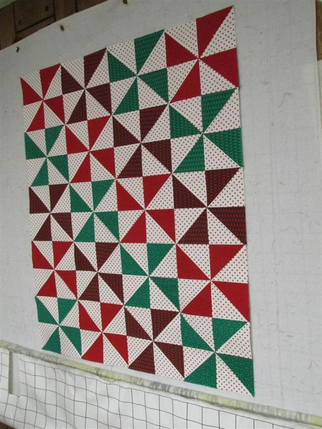 Christmas Pinwheel design wall (Large)
