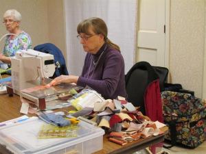 Jean hard at work.
