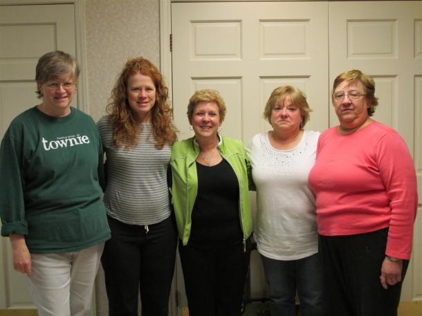 """The 4 on the right traveled all the way from Ohio to retreat with their """"sister"""" on the left."""