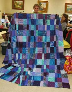 Janice's first quilt! Wow!
