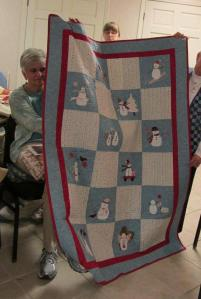 Linda's applique snowmen - so cute!