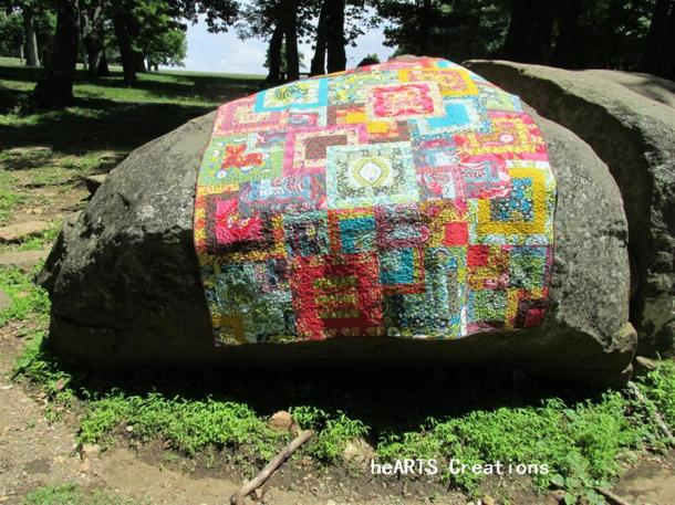 This pic taken on the Blue Ridge Parkway -  couldn't resist this boulder!