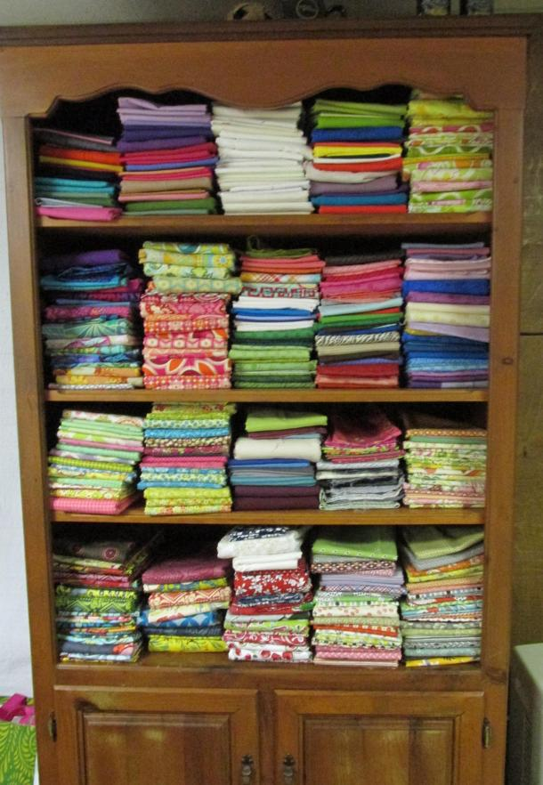Fabric Cupboard - with solids and a few special collections.