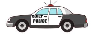quilt police car