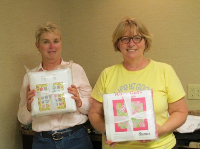 Quilt kits for these 2 big winners!""