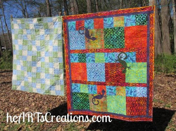 March Charity quilts hanging (Medium)