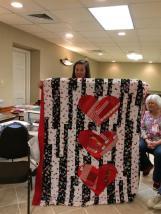 Inspiring charity quilt.